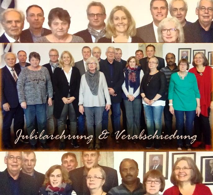 Auf dem Bild: Jubilarehrung und Verabschiedung mit Bürgermeiserin Nicole Moenikes (Foto: Stadt Waltrop)