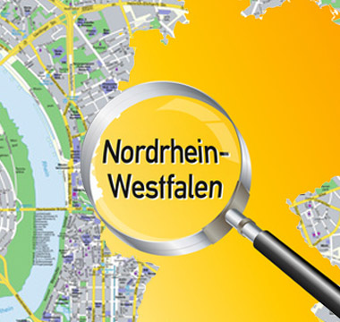 Bild: Deutschlandkarte mit NRW; © VRD / Obelicks, fotolia.com