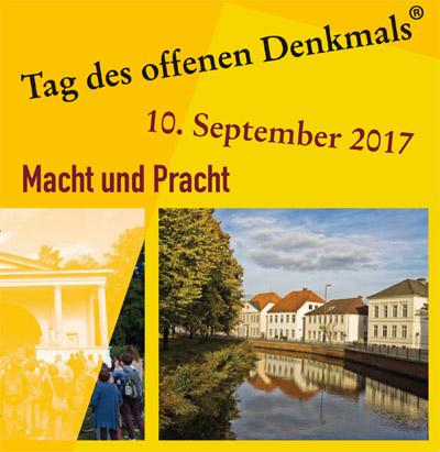 Auf dem Bild: Ausschnitt aus dem Programmflyer; Gestaltung Eva-Kristina Ruwwe, Bildnachweis: Deutsche Stiftung Denkmalschutz