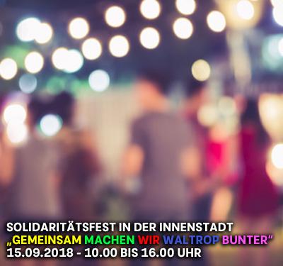 Bild: Solidaritätsfest in der Innenstadt, Foto: VTT Studio, fotolia.com