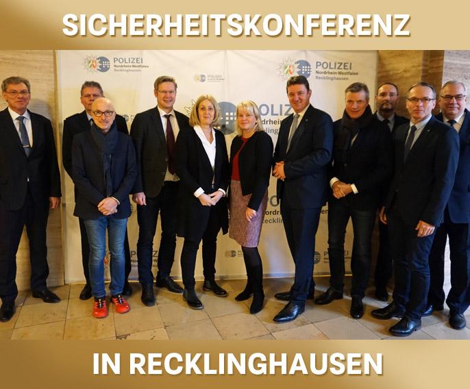 Bild: Sicherheitskonferenz im Polizeipräsidium Recklinghausen, Foto:Polizeipräsidium Recklinghausen