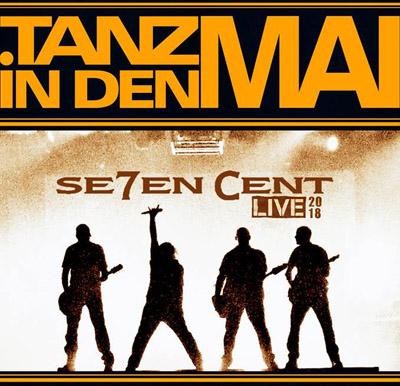 Auf dem Bild: Veranstaltungsplakat, Ausschnitt. Schrift im Bild: Tanz in den Mai, Seven Cent live