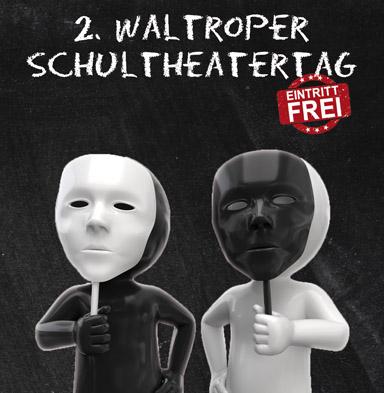 Bild: Programmflyer vom Schultheatertag, Ausschnitt, Gestaltung: www.rockandwords.de