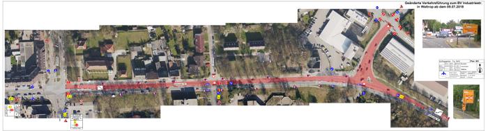 Auf dem Bild: Geänderte Straßenführung. Foto: Stadt Waltrop
