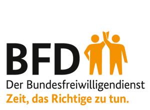 Auf dem Bild: BFD Logo
