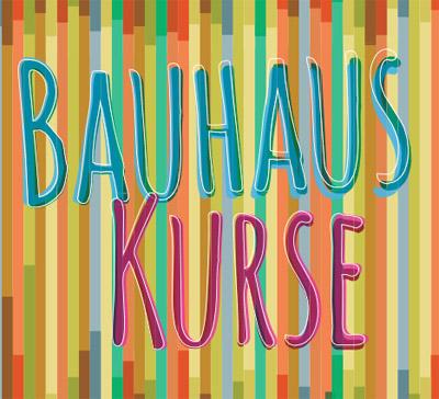 Auf dem Bild: Bauhauskurs-Programmheft, Ausschnitt vom Deckblatt