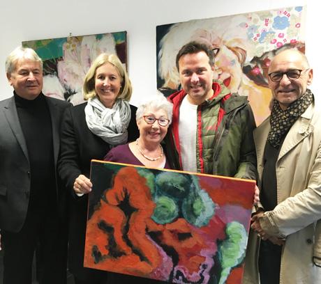 Auf dem Bild von links: Hans Hanisch, Bürgermeisterin Nicole Moenikes, Emilia Fernandez, Thomas Paschek, Clemens Schmale; Foto: Stadt Waltrop