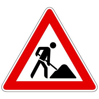 Auf dem Bild: Hinweisschild Baustelle; Grafik: (c) reeel, fotolia.com
