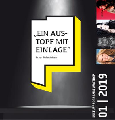 Auf dem Bild: Programmflyer 2019, 1. Halbjahr (Ausschnitt, Derivat), Gestaltung: Maria Diekmann