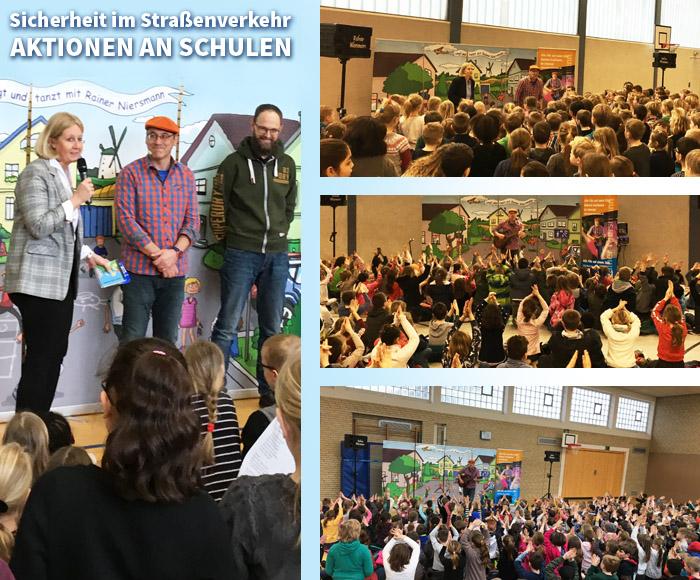 Auf dem Bild: Fotocollage mit Bildern von den Veranstaltungen an den Grundschulen. Fotos: Stadt Waltrop