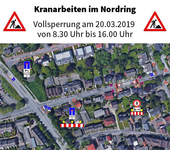 Auf dem Bild: Luftbild mit Kartenausschnitt und Markierungen. Grafik: Lukas Verkehrssicherung