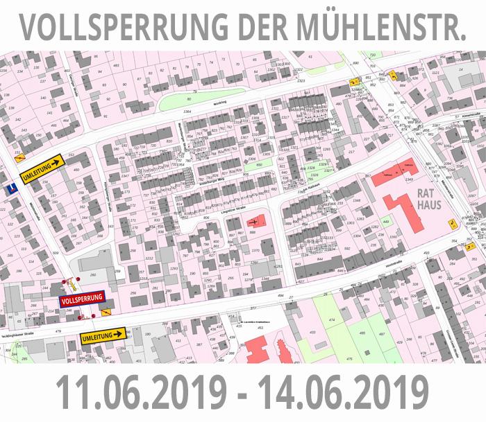 Auf dem Bild: Technische Skizze, Sperrung und Umleitung. Grafik: FA Trasol GmbH (Derivat).