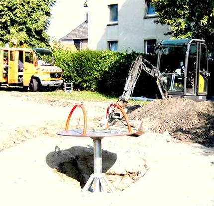 Auf dem Bild: Spielplatz-Baustelle. Foto: Stadt Waltrop