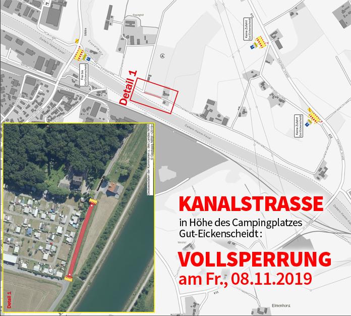 Auf dem Bild: Kartenskizze und Luftbild mit Markierungen. Quelle: B.A.S. Verkehrstechnik AG