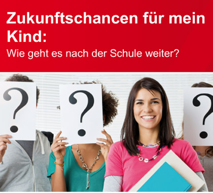 Auf dem Bild: Veranstaltungsflyer des Berufsinformationszentrums der Agentur für Arbeit in Recklinghausen (Ausschnitt).