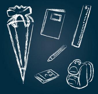 Bild: Piktogramme, Thema Einschulung; frilleddragon, fotolia.com