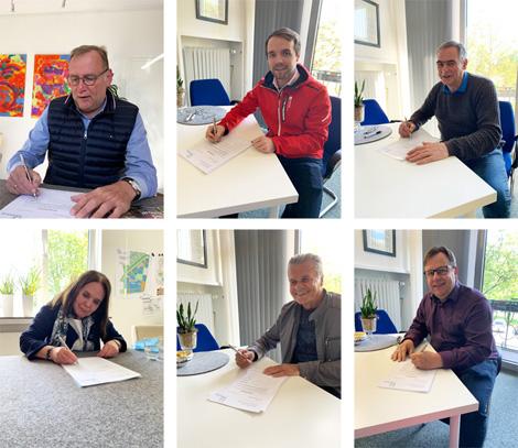 Auf dem Foto: Ludger Finke, Marcel Mittelbach, Dr. Heinz Josef Mußhoff, Ingrid Täger, Fritz Dee, Andreas Walgenbach.