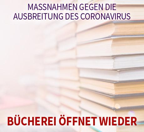 Auf dem Bild: Bücherei. Text im Bild: Maßnahmen gegen die Ausbreitung des Coronavirus, Bücherei. Foto: freepik.com