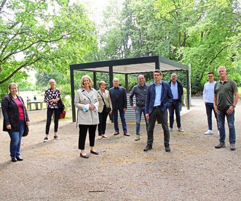 Auf dem Bild: Dankestreffen im Moselbachpark.