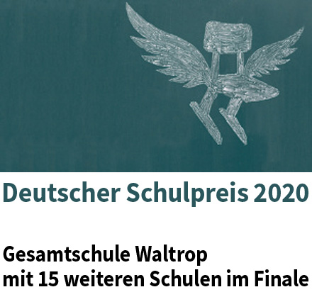 Auf dem Bild: Grafik mit Logo des deutschen Schulpreises