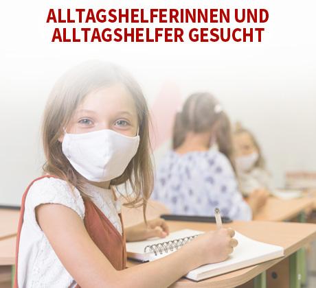 Auf dem Bild: Schulkind mit Mundnasenschutz.