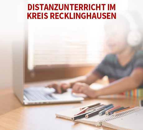 Auf dem Bild: Distanzunterricht.