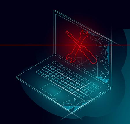 Auf dem Bild: Computerwartung