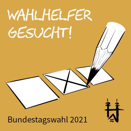 Auf dem Bild: Grafik mit Bleistift und Wahlkreuz.