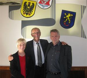 Treffen in Gardelegen: Anne Heck-Guthe, Konrad Fuchs, Gottfried Oelenberg