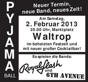 Veranstaltungsplakat Pyjamaball (Ausschnitt)