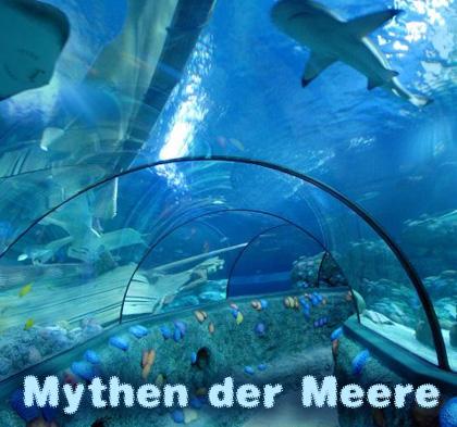 Auf dem Bild: Erlebnis-Aquarium SEA LIFE. Schrift im Bild: Mythen der Meere. Foto: SEA LIFE