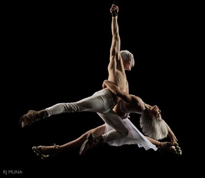 """Auf dem Bild: Das teilnehmende Artistik-Duo """"Airskiting"""". Foto zur Verfügung gestellt durch den Presseservice des Veranstalters."""