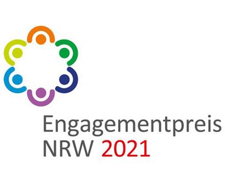 Auf dem Bild: Logo zur Ausschreibung des Engagementpreises 2021.